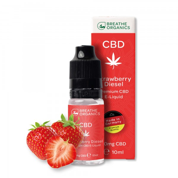 'Breathe Organics' Strawberry Diesel CBD E-Liquid