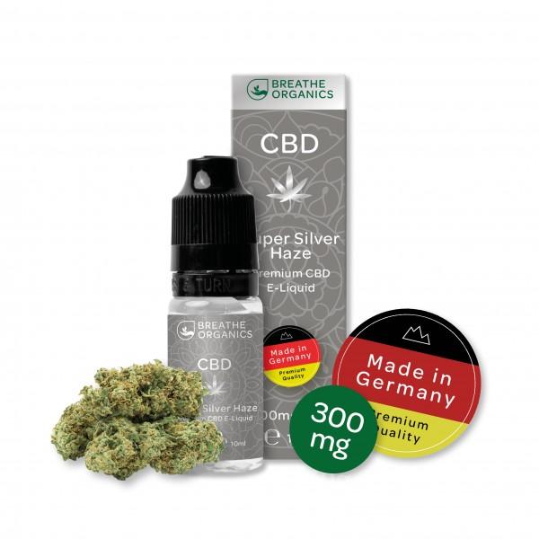 'Breathe Organics' Silver Haze CBD E-Liquid 300 mg CBD