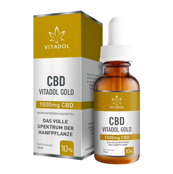'Vitadol' Gold Vollspektrum CBD-Öl 1000 mg CBD