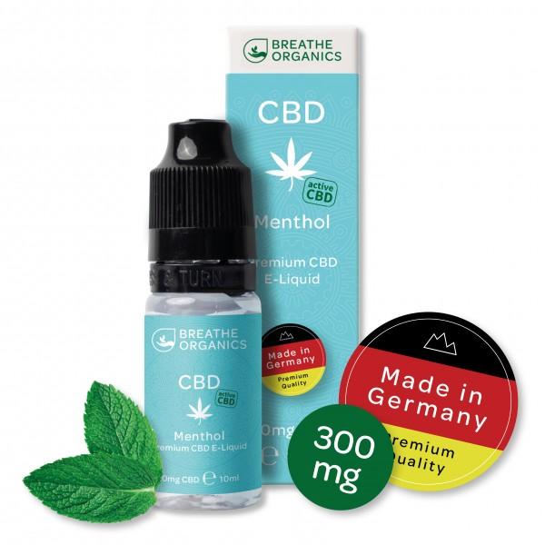 'Breathe Organics' Menthol CBD E-Liquid 300 mg CBD