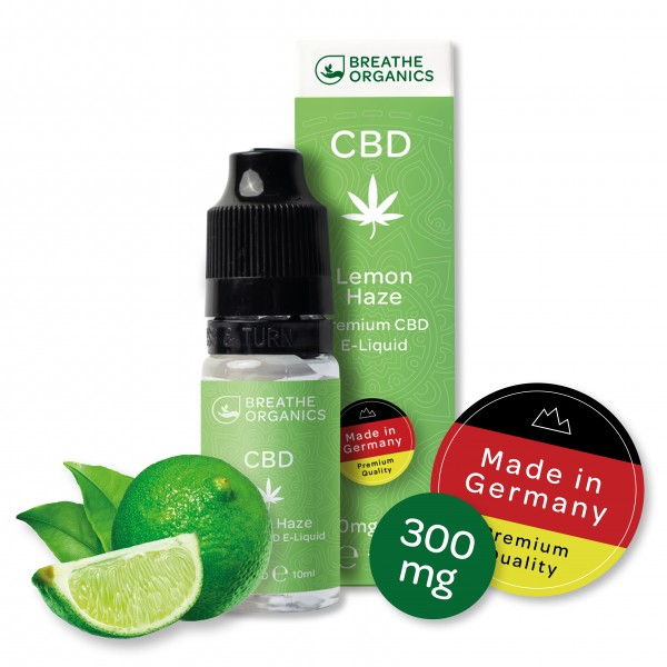 'Breathe Organics' Lemon Haze CBD E-Liquid 300mg